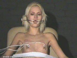 Extreme get on one's nerves tortures and hardcore bdsm of blonde slavegirl in perspicacious nipple