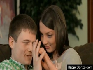 Cute teen Foxy Di receives creampie