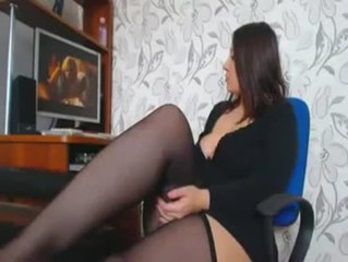 Chubby Legs Masturbating Stockings