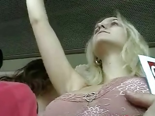 Bus Touch - Tits Groping (fake)