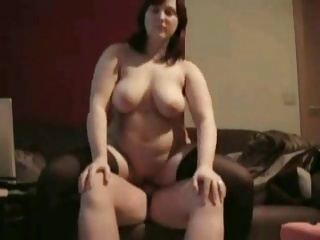 Horny Chubby Ex GF riding cock and swallowing cumshot
