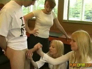 Lauren Louise Hurley the School Girl wanks a guy off