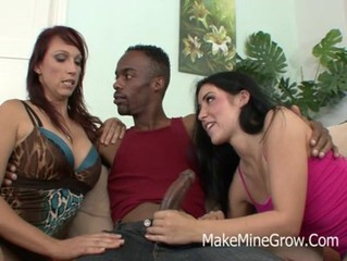 Nikki Hunter - Big Tits Brunette Take Black Cock On Her Pink Pussy
