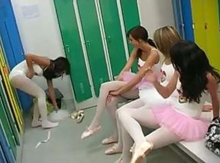 Ballet training ends in a lesbian teen toy party