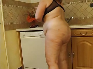 Amateur  Homemade Kitchen Mature