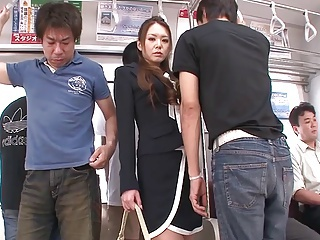 China Mimura Fingered & Facialized With regard to A Train (Uncensored)