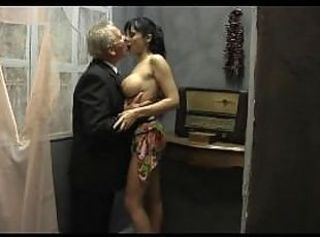 Young Perfect Girl is Fucked at the end of one's tether Two Old Perverts