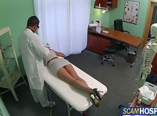 Sexy Victoria gets doggy style fucked in doctors date