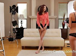 Nubiles Casting - Will gagging on cock get her the part?