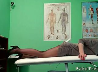 Redhead in the air pantyhose fucked