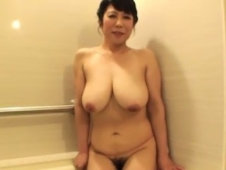 Asian Bathroom Big Tits Chubby Hairy Mature Mom Natural