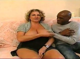 Big Tits Chubby European French Interracial  Natural