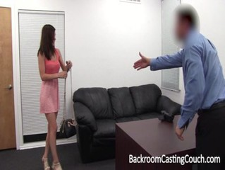 Amateur First Anal, Ambush Creampie on Casting Couch