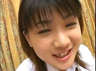 Horny Asian Schoolgirl plays her Pussy and sucks Dick