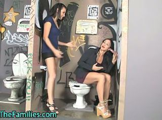 Milf teen four gobbling a gloryhole dong