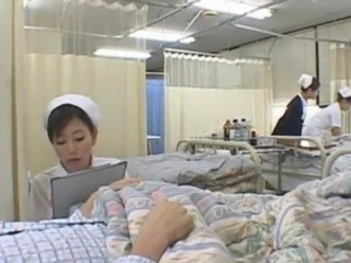 Nice Japanese Nurse Gives the Patient the hot wank job