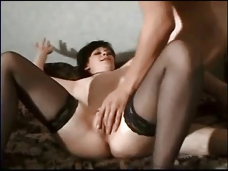 Hot brunette wife on real homemade