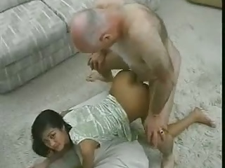 Tight Vietnam Teen with Old Man.