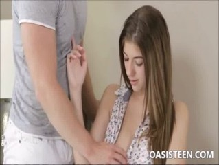 A young teen virgin with big nipples
