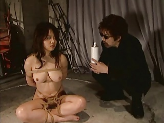 Fire torture Hard BDSM with Asian Slave