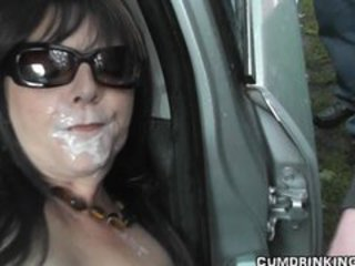 Hot wife gangbanged at highway rest area