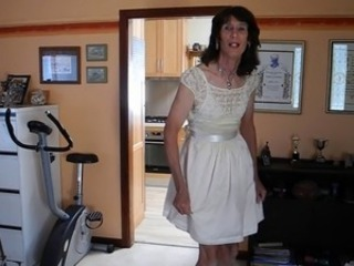 Mature Crossdresser Jerks Cock