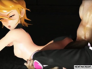 Two 3d girls gets fucked verge on