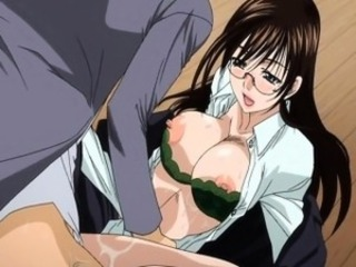 Sexy hentai brunette gets her wet pussy pumped deep