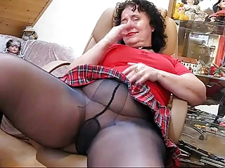 Broad in the beam mature loves masturbating