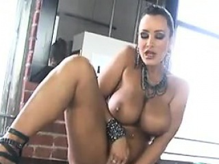 MILF With Beamy Breasts Toys With Her Pussy