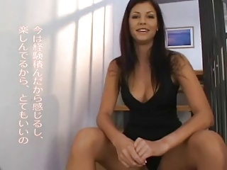 AMWF Lucie Theodorova interracial in the air Asian guy