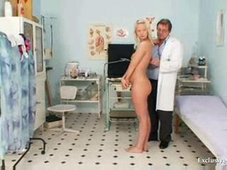 Vagina exam of an sweet sexy blonde  Sexual connection Tubes
