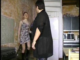 Daughter Kitchen Lesbian Mom Old and Young