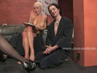 Blonde preciouss mistress torturing carnal knowledge slave in extreme cissified d Sex Tubes