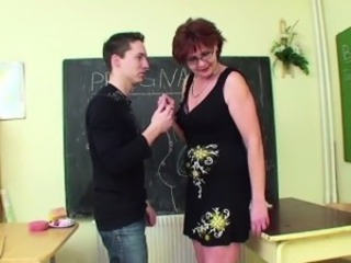 German Milf Teacher show young manhood how to get pregnant