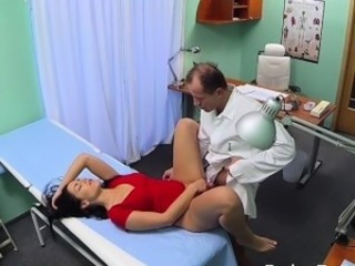 Bent over desk patient gets fucked in dissemble hospital