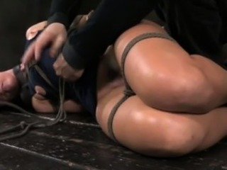 Gstring hogtied sub gets teased