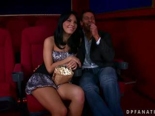 Amabella fucking with two guys in cinema by Reno78 Sex Tubes