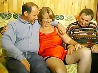 Chubby Cuckold European French  Older Stockings Threesome Vintage Wife