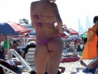 Sexy Russian In A Bikini Out At A Beach