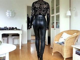 Sissy Sexy Tight Leather 2 Sex Tubes