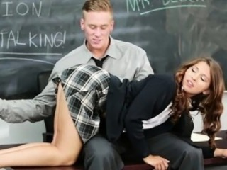 Cute schoolgirl Ariana Grand pounded by her nasty teacher