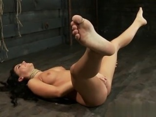 Busty model bondage squirt