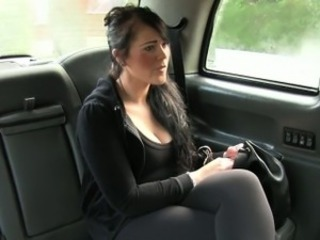 British bbw fucked on touching fake taxi-cub on touching public