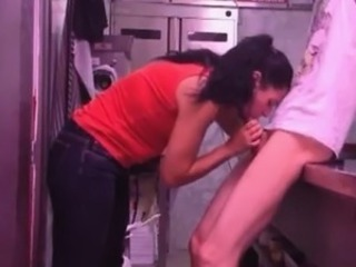 Fucking his maid in the kitchen