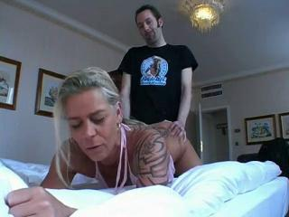 Huge german blonde slut fucked in hotel room