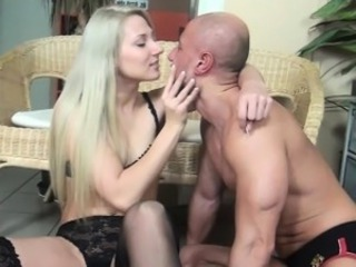 Viktoria uses their way armpit and tits to smother slave