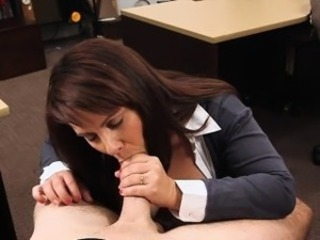 Busty join in matrimony gives BJ together with gets banged in a pawnshop for top-hole