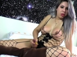 Brazilian tranny toys ass
