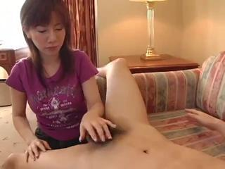 Japanese Mature Sucks Cock coupled with Eats Ass (Uncensored)